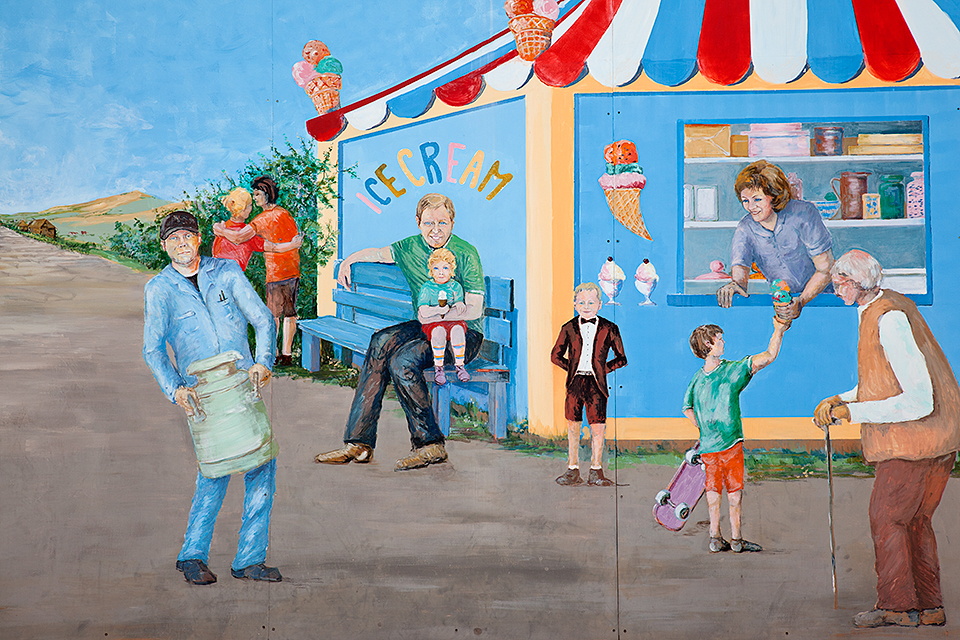 Old Dairy Ice Cream Shoppe Mural #2