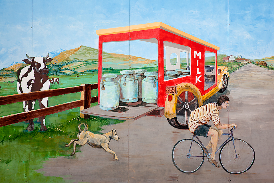 Old Dairy Ice Cream Shoppe Mural #1