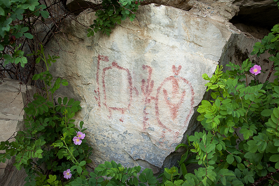 Pictograph On Stone