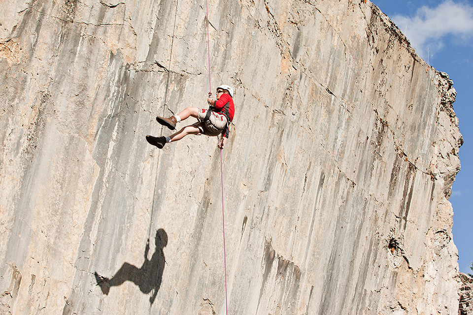 Rock Face Rappelling