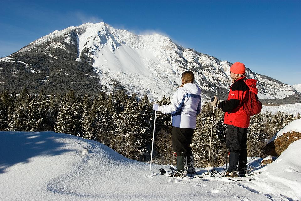 Winter Trekking In Crowsnest Pass