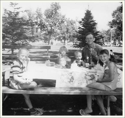 Henderson Lake picnic (ca. 1966)
