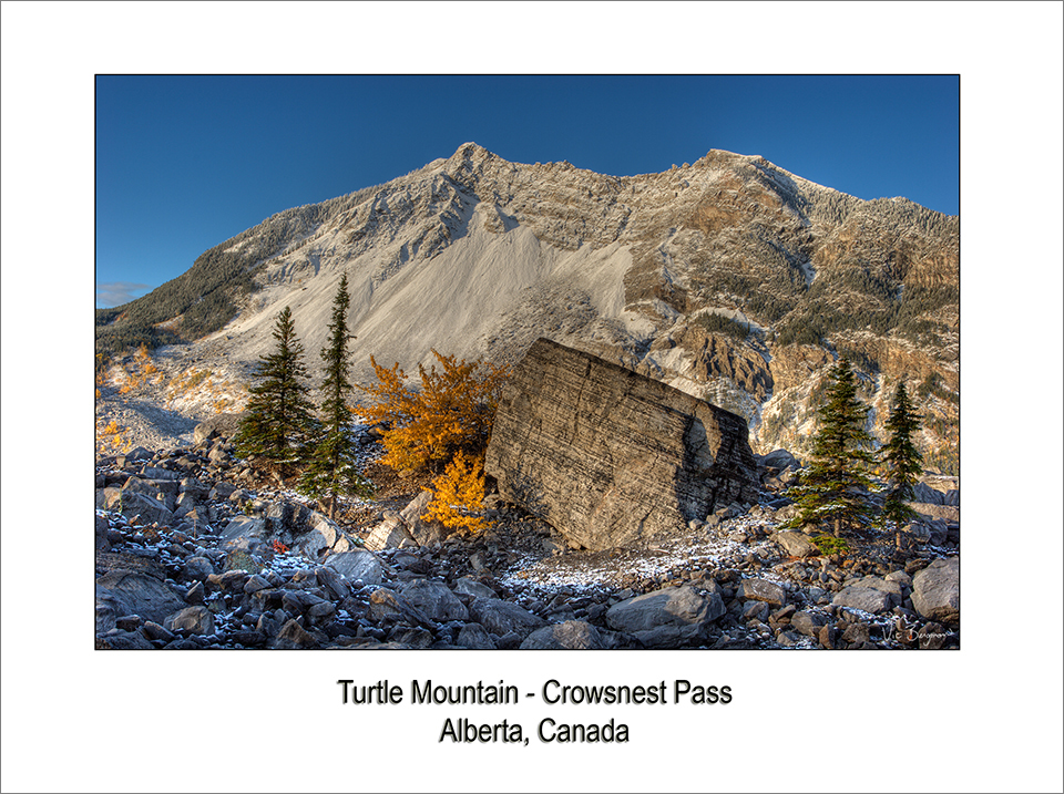 First Snow On Turtle Mountain II