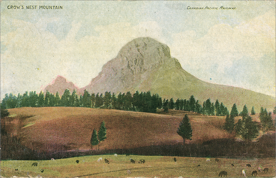 Crow's Nest Mountain - Canadian Pacific Railway (ca. 1905)