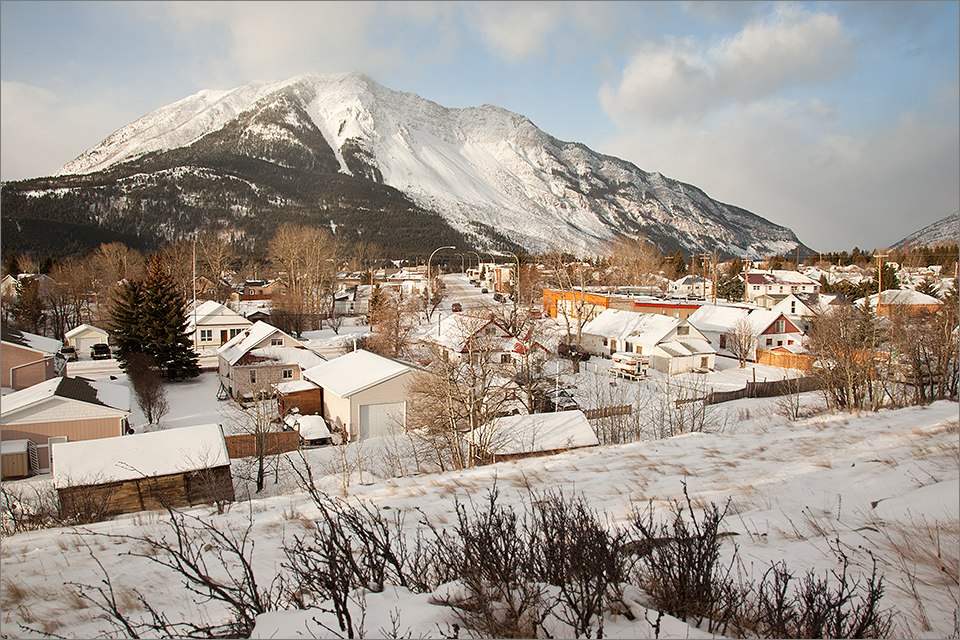 View of Bellevue, Crowsnest Pass
