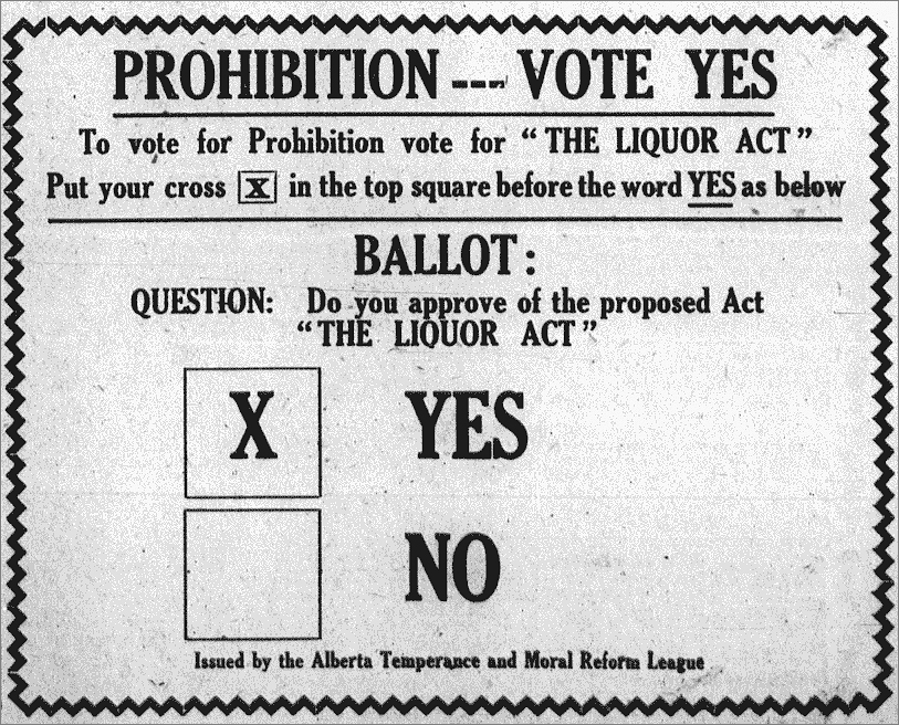 Vote Yes Ad - Blairmore Enterprise July 16, 1915