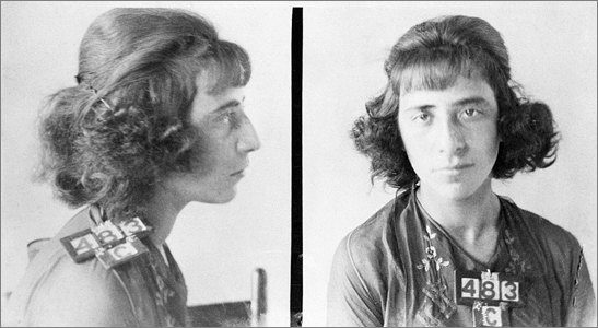 Florence Lassandro Mug Shot - September, 1922