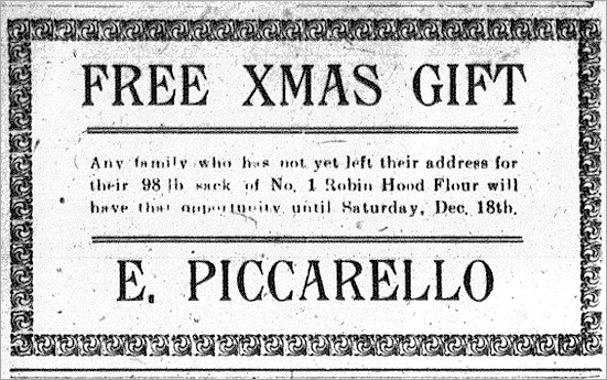 Blairmore Enterprise Advertisement - December 16, 1920