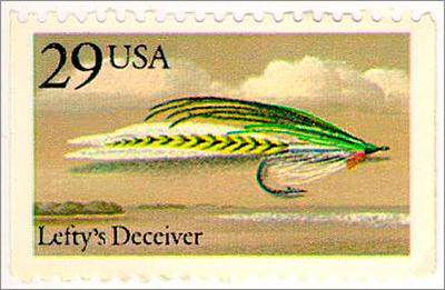 Lefty's Deceiver – U.S. Postage Stamp (1991)