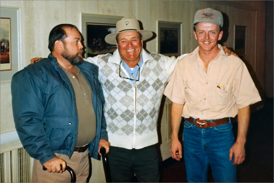 John Scott Black (left), Lefty Kreh (center), and me