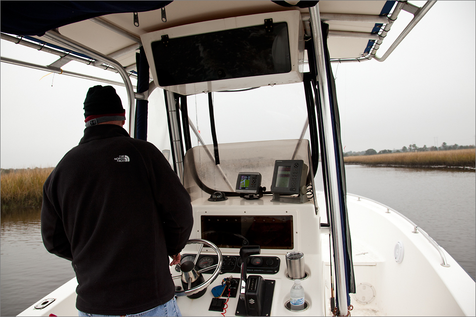 Robbie at the helm