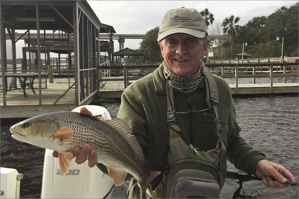 Redfish at hand