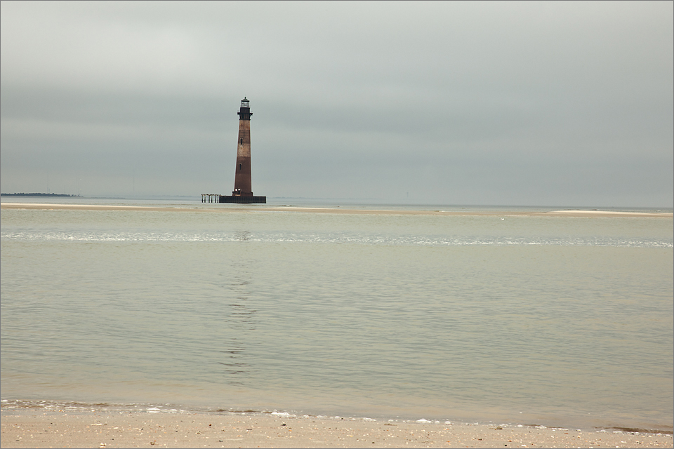View of lighthouse from the beach