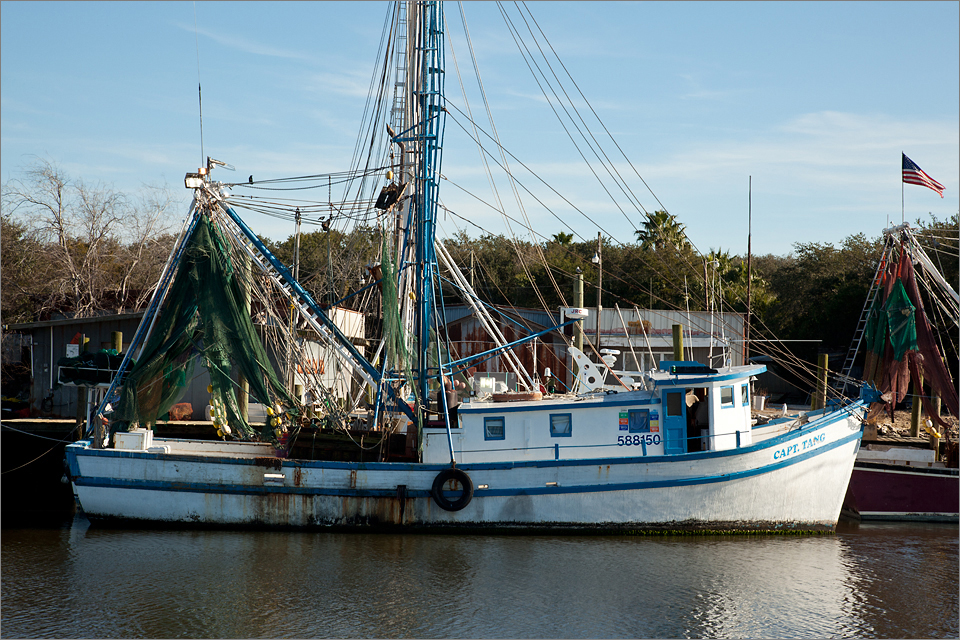 "The ""Captain Tang"" docked at Shem Creek"