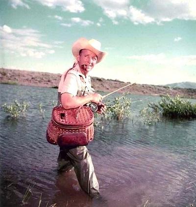 Bing Crosby fly-fishing